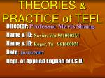 theories practice of tefl