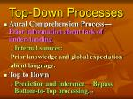 top down processes
