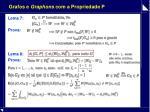 grafos e graphons com a propriedade p