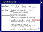 prova do teorema 2