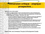 dimension critique utopique prospective