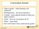curriculum format