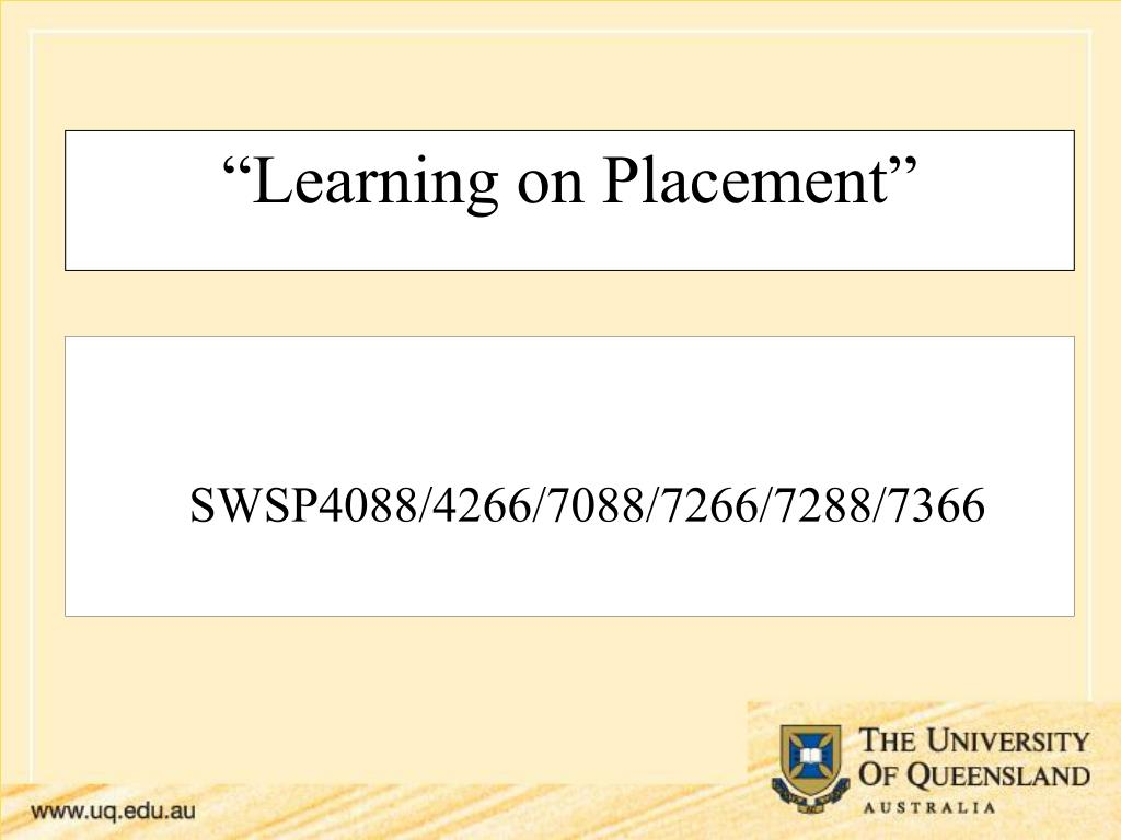 learning on placement l.