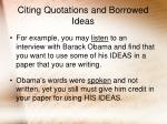 citing quotations and borrowed ideas15
