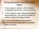 citing quotations and borrowed ideas16