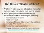 the basics what is citation