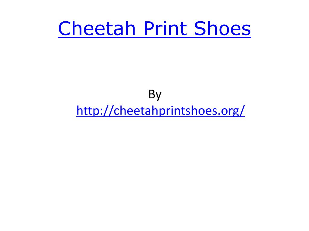 cheetah print shoes l.
