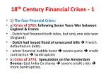 18 th century financial crises 1