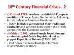 18 th century financial crises 2