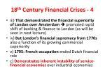 18 th century financial crises 4