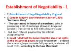 establishment of negotiability 1