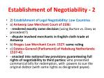 establishment of negotiability 2