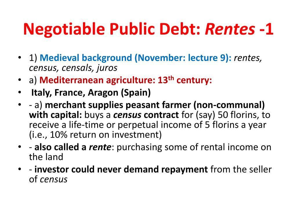 Negotiable Public Debt: