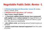 negotiable public debt rentes 1