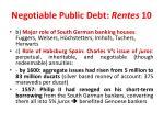 negotiable public debt rentes 10