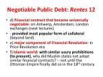 negotiable public debt rentes 12