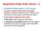 negotiable public debt rentes 6