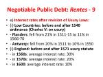negotiable public debt rentes 9
