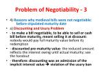 problem of negotiability 3