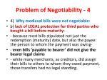 problem of negotiability 4
