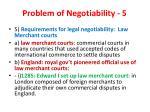 problem of negotiability 5