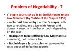 problem of negotiability 7