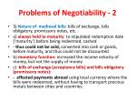 problems of negotiability 2