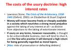 the costs of the usury doctrine high interest rates
