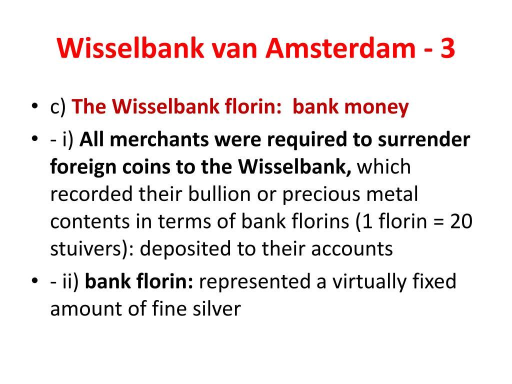 Wisselbank van Amsterdam - 3