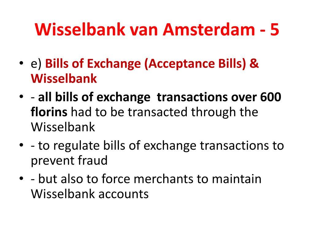 Wisselbank van Amsterdam - 5