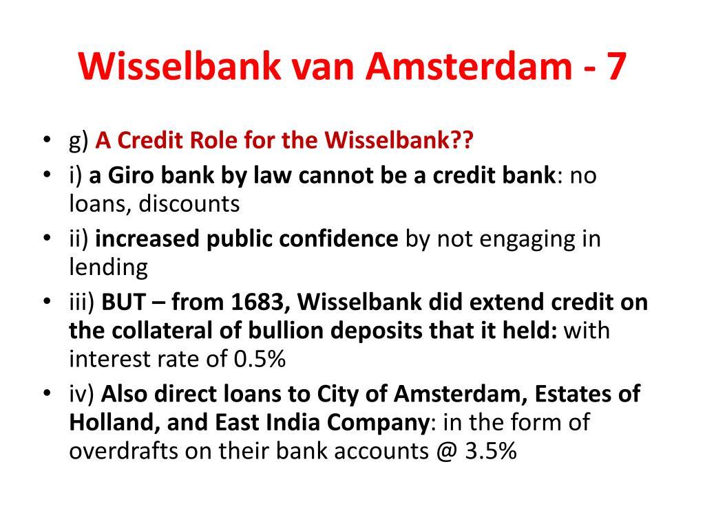 Wisselbank van Amsterdam - 7