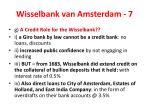 wisselbank van amsterdam 7