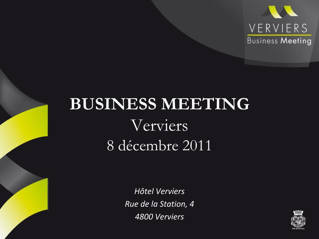 business meeting verviers 8 d cembre 2011 l.