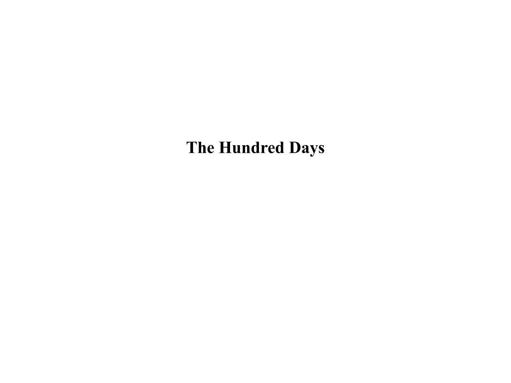 the hundred days l.