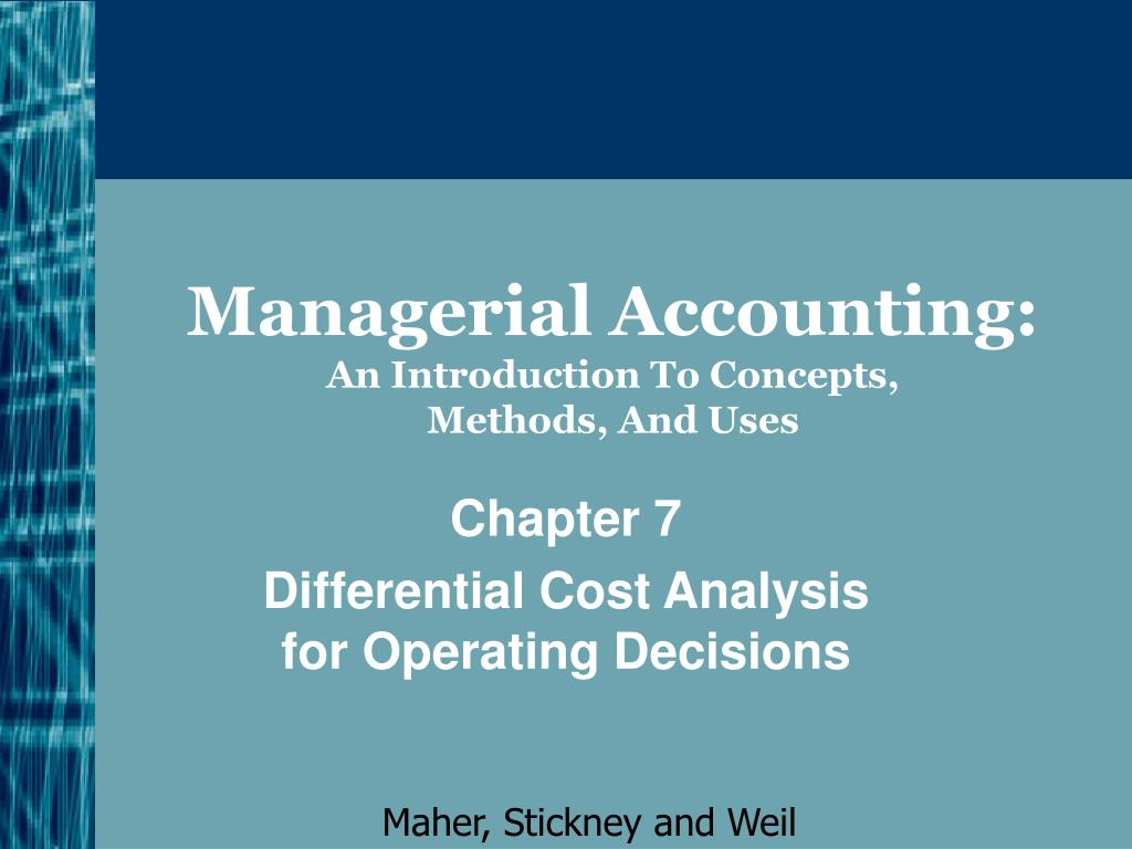 managerial accounting an introduction to concepts methods and uses l.