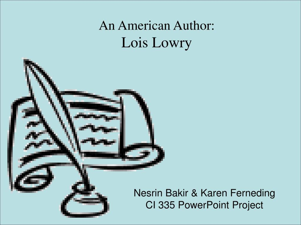 an american author lois lowry l.