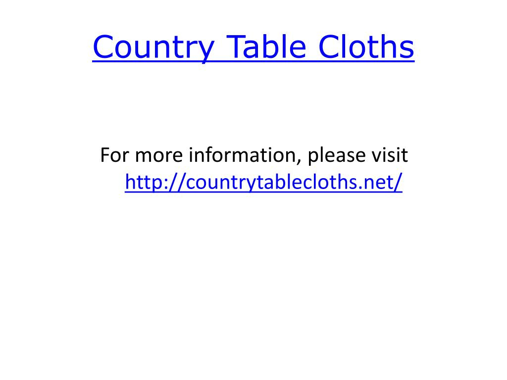 country table cloths l.