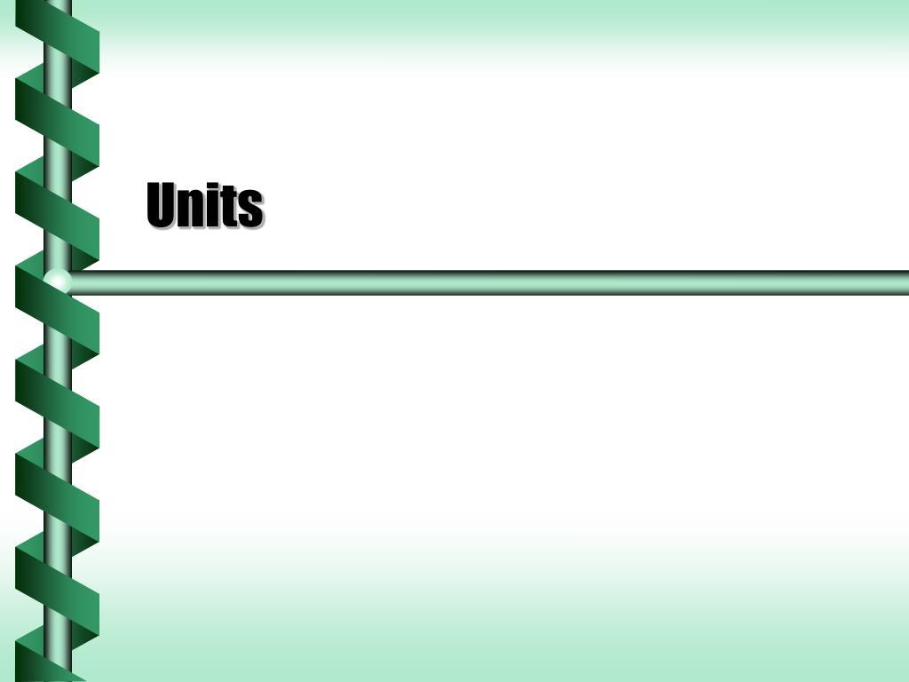 units l.