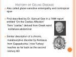 history of celiac disease