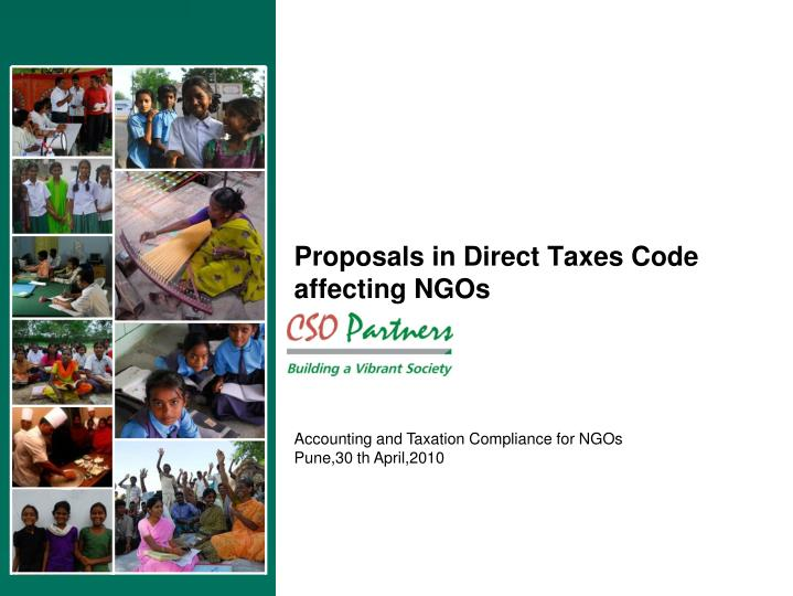 proposals in direct taxes code affecting ngos n.