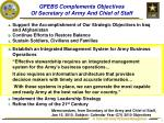 gfebs complements objectives of secretary of army and chief of staff
