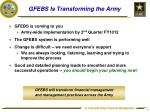 gfebs is transforming the army