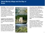 about morinj village and the bay of kotor