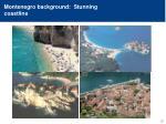 montenegro background stunning coastline