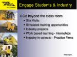 engage students industry