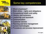 some key competencies