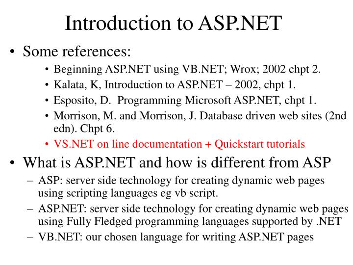 introduction to asp net n.