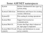 some asp net namespaces