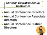 christian education annual conference