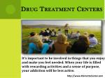 drug treatment centers